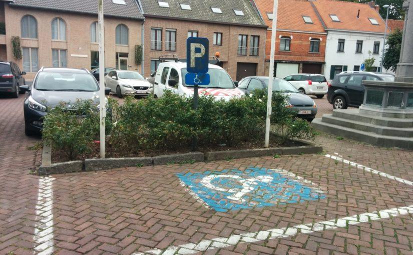 Vraag in verband met parkeerplaatsen voor personen met een beperking (gemeenteraad maart 2018)